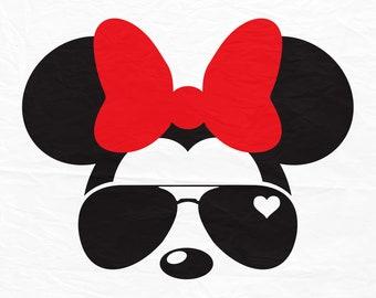 Disney, Mickey, Minnie, Mouse, Aviators, Sunglasses, Icon, Head, Ears, Digital, Download, TShirt, Cut File, SVG, Iron on, Transfer