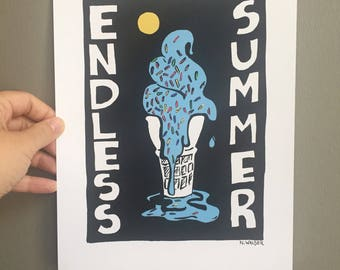 Art print 8.5 x 11- Summer - Endless Summer