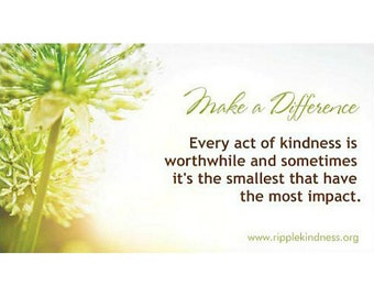 Make A Difference - Fridge Magnets - Inspirational Quotes