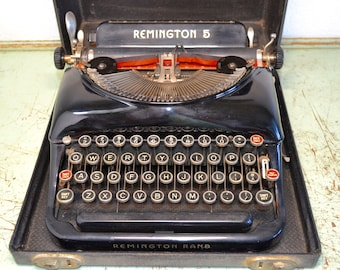 Remington Typewriter, Typewriter, Vintage Typewriter, Working Typewriter, Retro Typewriter, Portable Typewriter, Old Typewriter, Writing
