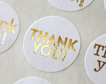 Thank You Sticker, Wedding Labels, Wedding Stickers, Envelope Seals, Favor Stickers, Gold Foil, Gold Wedding, Party Favor, Gift Wrapping