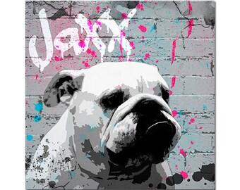 Custom Pet Portrait - Splatter Art Graffiti Art - Custom dog Illustration - Custom Graffiti pet portrait - Street art pet portrait - Digital