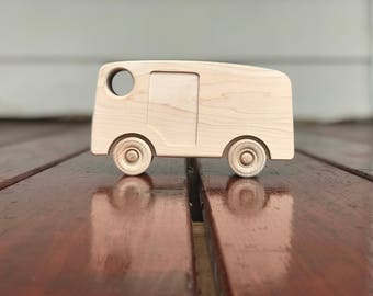 Wood Toy Ice Cream Truck  Car - Maple