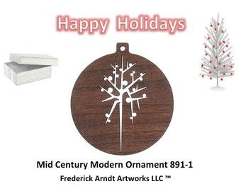 891-1 Mid Century Modern Christmas Ornament