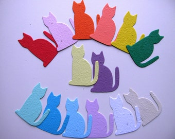25 Seed Paper Cats