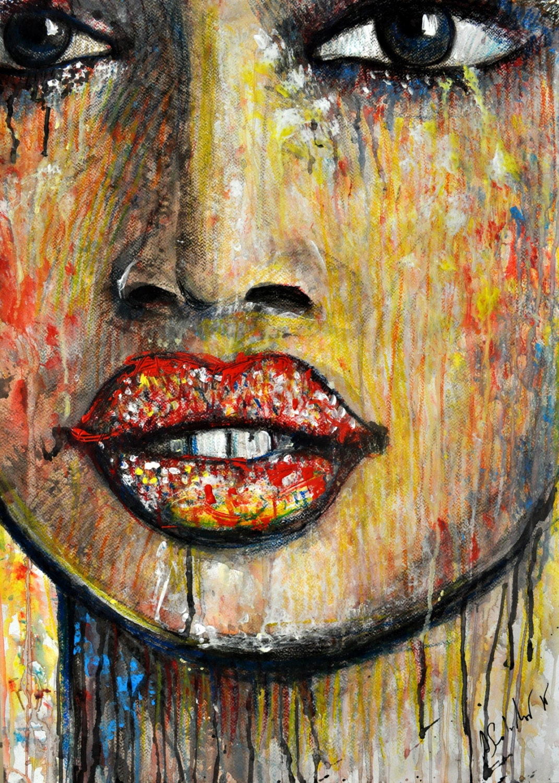 African faces black girls FINE ART PRINT Portrait of an