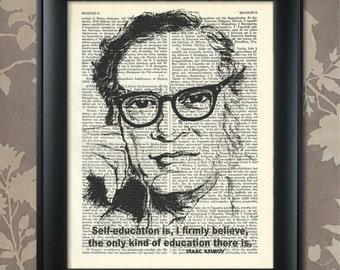 Isaac Asimov Print, Isaac Asimov Quote, Asimov Poster, Isaac Asimov art, Asimov wall art, Asimov Decor, Asimov Print, Scientist, Asimov Art