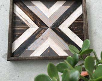 Wood Wall Art- Wood Wall Decor- Wood Art- Geometric Wood Wall Art - Wooden Wall Art - Boho Wall Art - Rustic Wall Art - Boho Wood Art