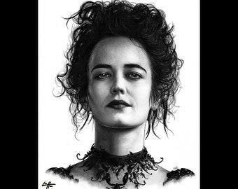 """Druck 8 x 10""""- Vanessa Ives - Penny schrecklichen Eva Green übernatürlichen viktorianischen London Frankenstein gotische dunkle Kunst Horror anspruchslosen Pop Art"""