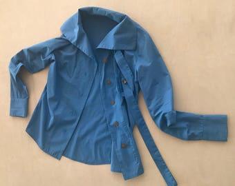 Vivienne Westwood blue top. Red lable Vivienne Westwood. Blue top. London. Tops. Women's clothing. Cotton top.