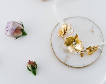 Wild Rose Bracelet, bridal bracelet, wedding jewellery, bridal jewellery, wedding cuff, bridal cuff, wedding bracelet, gold bracelet #135