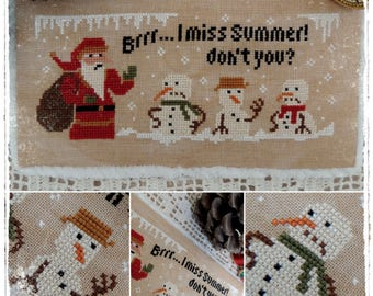 Angry Snowman - PDF Cross Stitch Pattern