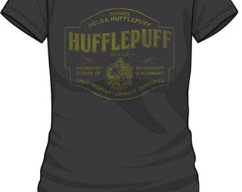 Harry Potter - Hufflepuff Juniors Charcoal Tee - T-Shirt (S,M,L,XL,XXL)