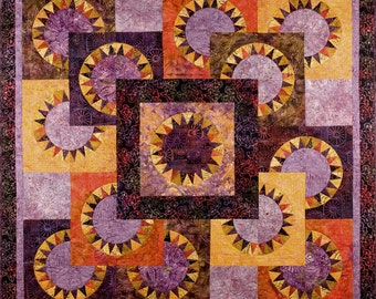 Purple Dawn Quilt Pattern by Elisa's Backporch Designs