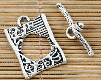 12pcs Tibetan silver anomalous shape toggle clasps EF1336