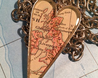Scotland Map Pendant