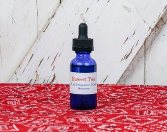Sweet Tea Concentrated Blend Fragrance 0il Scent Dropper Glass Bottle Rustic Charm Refresher Refill