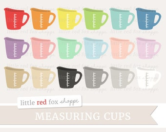 Measuring Cup Clipart, Baking Clip Art Kitchen Cooking Dinner Chef Bakery Food Icon Cute Digital Graphic Design Small Commercial Use