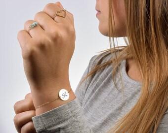 Initial Bracelet, Custom Initial Bracelet, Personalized Initial Bracelet, Monogram Bracelet, Single Initial Bracelet, Bridesmaid Bracelet