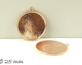 Cabochon version Medallion 25 mm, rose gold (flat)