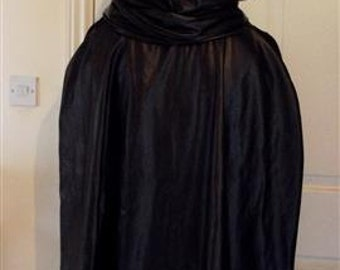 Cosplay cape cloak for cosplay archer assassin hunter with infinity scarf hood in faux leather pleather destiny