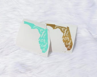 State Decal, State Car Decal, Florida Car Decal, State Love Decal, Family Car Decal, Car Decal for Women, florida strong, irma, Home State