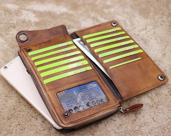 Gift - Personalized Men's Leather Wallet - Custom Engraved