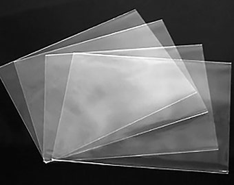 Clear sleeve etsy clear no flap greeting card and notecard sleeves packs of 100 pieces choice of m4hsunfo Images