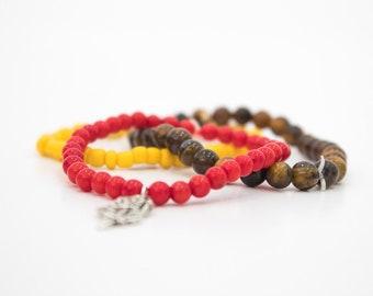 Womens Disney Bracelet | disney jewelry | beauty and the beast inspired jewelry | belle | beaded bracelets |glass bead jewelry