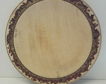 Rippled Sycamore platter