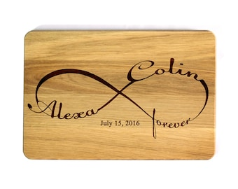 Cutting board Wedding gift Infinity Personalized Cutting Board Wedding gift Housewarming gift Kitchen decor Gift for couple cutting board