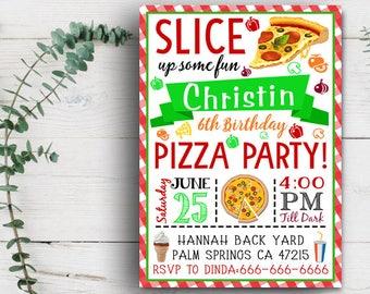 Pizza Party Invitation, Pizza Invitation, Pizza Birthday Invite, Pizza Birthday Invitation, Pizza Invitation,Pizza Party Invite,Pizza Making