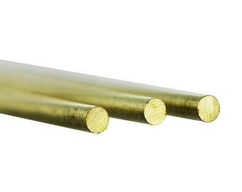 "Brass round rod  12"" long .081"" od (4 cards of 3)(BRW12)"