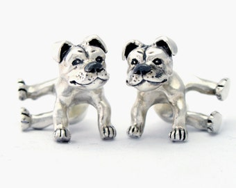 Staffordshire bull terrier earrings- made from 925 sterling silver