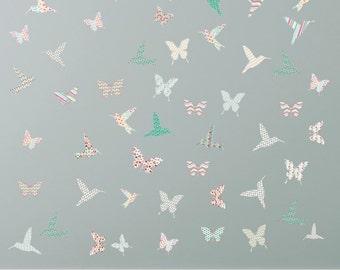 Hummingbird wall stickers, bird wall stickers, butterfly wall stickers, hummingbird decals, butterfly decals, girls wall stickers
