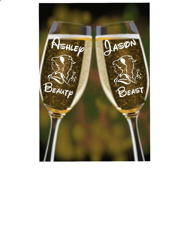 La Bella Y La Bestia Boda De Cuento De Hadas Copas De # Champagne Muebles Uy