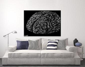 Mind   Pen - Canvas Print   Wall Art