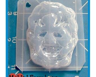 HorrorLeather Face  character Handmade Flexible Plastic Resin Mold