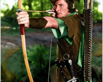 The Adventures Of Robin Hood Errol Flynn Publicity Still Poster Rare 24x36