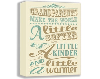 CANVAS ART - Christmas Gift For Grandparents - Grandparent Quote - Wall Art - Home Decor