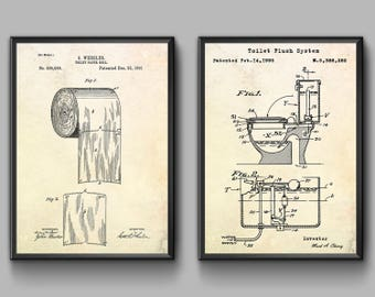 Toilet patent etsy more colors toilet paper poster malvernweather Images