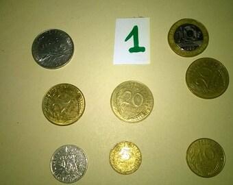 299) Pieces in Francs origin France