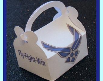 Air Force party favor boxes, Air Force promotion favors