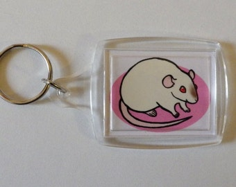 Cute Rat Keychain - Custom Made to Order