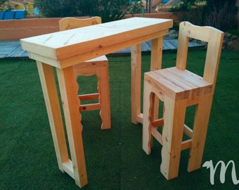 Table high of pallets for dining-Necochea