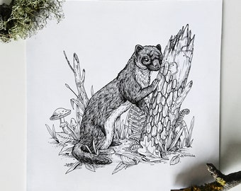 Weasel - original artwork