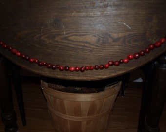 Cranberry Garland  4' - Old Fashion Primitive Christmas Tree Garlands, Strands And Decorations