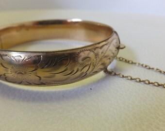 Stunning Antique Gold Filled Hinge Bracelet