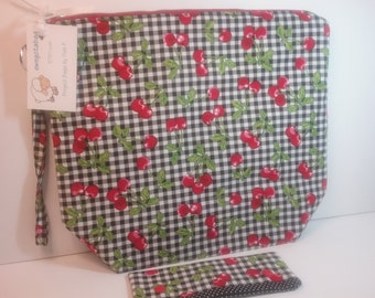 Cherries  Large project bag
