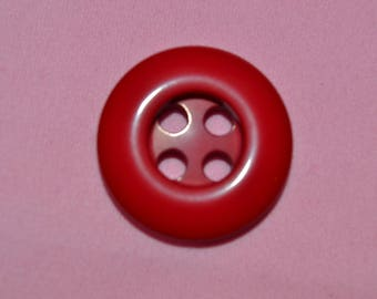 domed 30 mm round button
